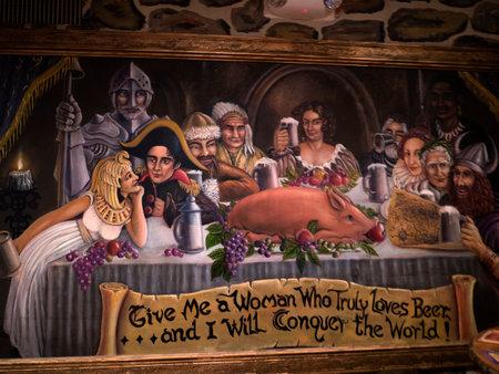 Interessante Pub in Durango Colorado Stockfoto - 36544975