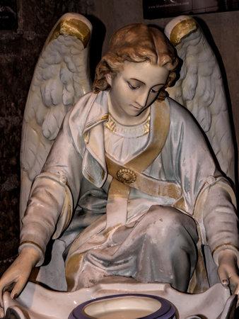 fe: Angel in the Loreto Chapel in Santa Fe New Mexico USA