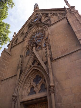 fe: the Cathedral in Santa Fe New Mexico USA