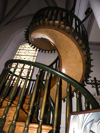 miraculous: The Miraculous Staircase in the Loreto Chapel in Santa Fe New Mexico USA