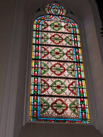 Window in the Loreto Chapel in Santa Fe New Mexico USA