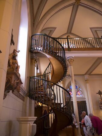 The Miraculous Staircase in the Loreto Chapel in Santa Fe New Mexico USA