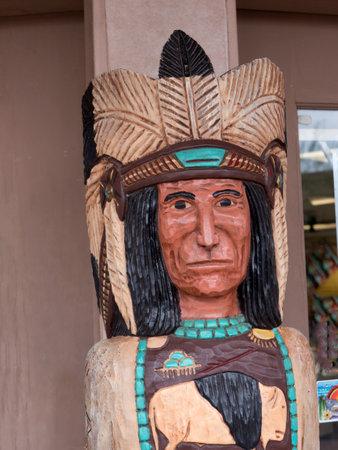scottsdale: Wooden Statue in Street in Scottsdale Arizona USA