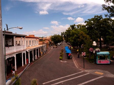 The Town Square in Santa Fe New Mexico USA Editorial