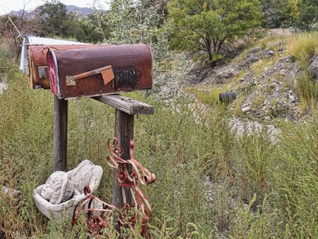 postbox: Postbox in Madrid New Mexico USA Editorial