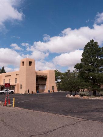 Typical adobe architecture in Santa Fe New Mexico USA Editorial