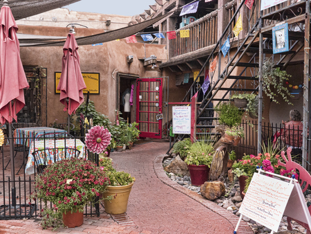 Old Town of Albuquerque with its many galleries in New Mexico USA Redakční