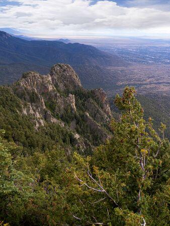 Sandia Peak in the mountains above Albuqueque New Mexico USA