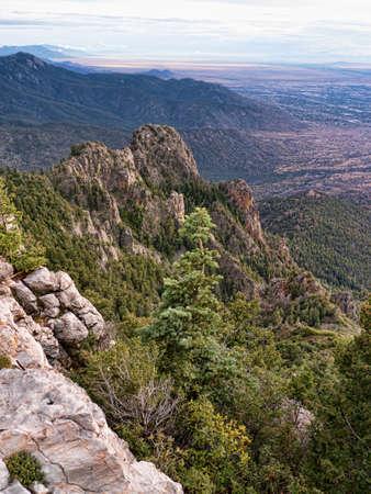 Sandia Peak in the mountains above Albuquerque New Mexico USA