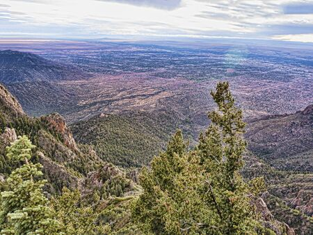 Sandia Peak in the Mountains of Albuqueque New Mexico USA Banco de Imagens