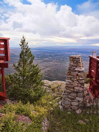 Sandia Peak in the Mountains of Albuqueque New Mexico