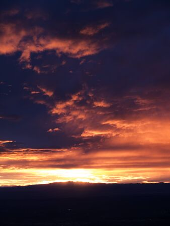 Sunset from the top of Sandia Peak in Albuquerque New Mexico