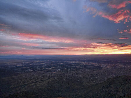 unset from the top of Sandia Peak in Albuquerque New Mexico USA