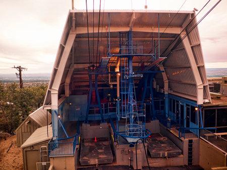 Sandia Peak Cable Car up the Mountains of Albuquerque New Mexico Editorial
