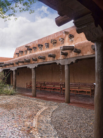 brenda kean: Old Town of Albuquerque with its many galleries in New Mexico USA Editorial