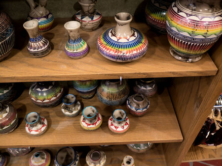 Old Town of Albuquerque with its many galleries in New Mexico USA Editorial