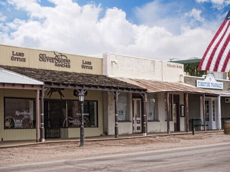 Tombstone in Arizona where the Gunfight at the OK Corral was fought in the USA. It is called the Town too tough to die. Re-enactors play their parts