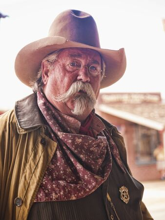 Tombstone in Arizona where the Gunfight at the OK Corral was fought in the USA. It is called the Town too tough to die. Re-enactors play their parts Editorial