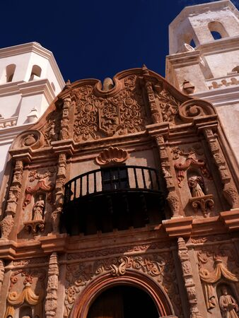 tucson: Mission San Xavier del Bac is a historic Spanish Catholic mission located about 10 miles south of Tucson, Arizona USA