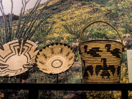 Basketware in the Phoenix Museum In Arizona USA