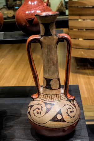 Pottery in the Phoenix Museum In Arizona USA