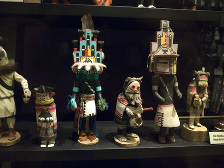 display figure: Native Amercan Figures in the Phoenix Museum In Arizona USA