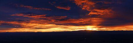 Sunset from the top of Sandia Peak Albuquerque New Mexico