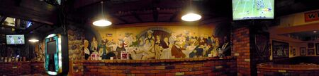 brenda kean: Fresco in an Interesting Pub in Durango Colorado USA