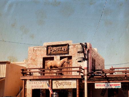 scottsdale: Main Street of Old Scottsdale in Arizona USA