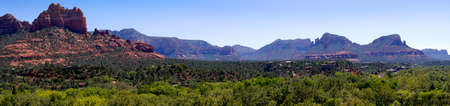 sedona: Panorama of the Mountains around Sedona Arizona
