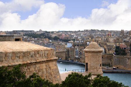 fortifications: Fortifications of the City of Valetta in Malta Stock Photo