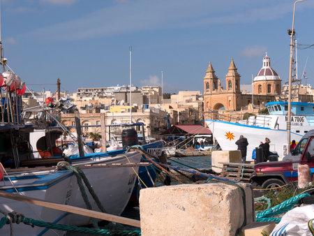 fishingboat: Marsaxlokk Harbour on the island of Malta