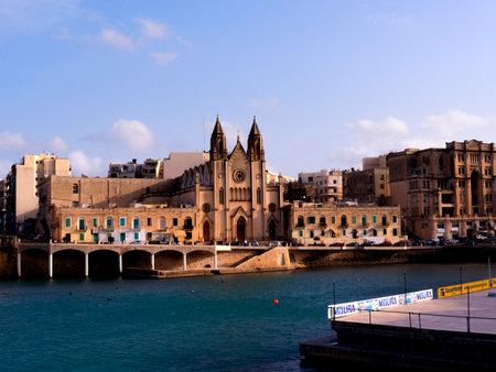 st pauls: Church in St Pauls Bay on the island of Malta Editorial