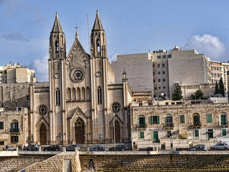 st pauls: Church in St Pauls Bay on the island of Malta Editorial
