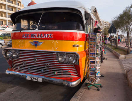 old bus: Old bus now a gift shop in Sliema Malta
