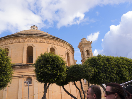 Church in Mosta on the island of Malta. Mosta boasts the third largest unsupported dome in the World dedicated to the Assumption