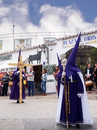 Easter Procession in Mijas one of the most beautiful white villages of Andalucia