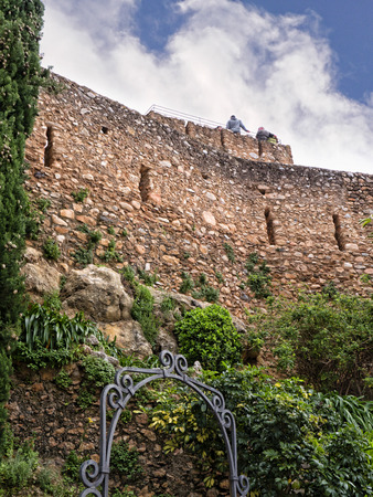 Castle in Mijas one of the most beautiful white villages of Andalucia