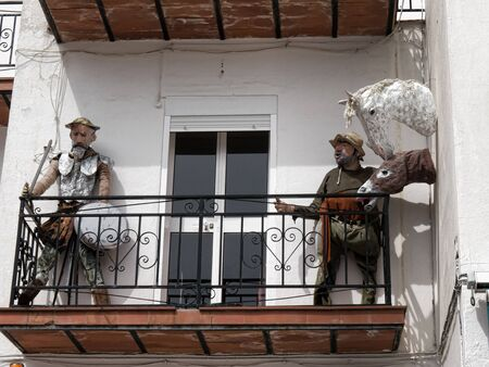 don quijote: Don Quijote y Pancho Sanza en Mijas España