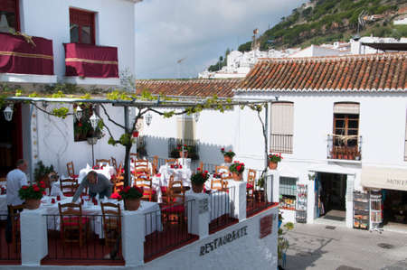 house donkey: Mijas one of the most beautiful white villages of Andalucia. It is in the Alpujarra mountains above the coast Editorial