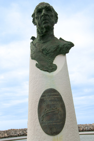 the founder: Statue of the founder of Puerto Banus on the Costa Del Sol, Andalucia, Spain.