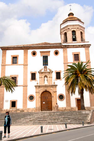 sited: Church in Ronda a mountain village in Andalucia sited high above a Gorge in the Mountains above the Costa del Sol in Spain