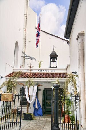 garrison: Garrison Church of St George on the Rock of Gibraltar at the entrance to the Mediterranean Sea