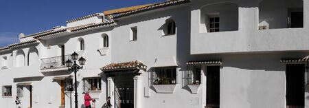 house donkey: Panorama of Mijas one of the most beautiful white villages of Andalucia. It is in the Alpujarra mountains above the coast