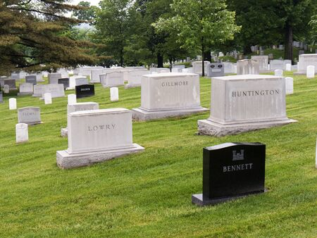headstones: Graves and headstones in Arlington National Cemetery in Virginia USA