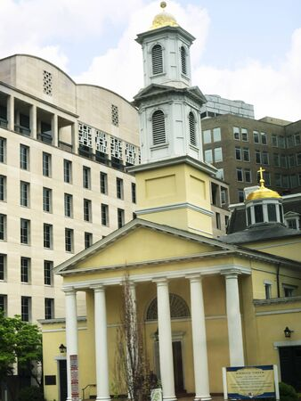 lafayette: St Johns Church in Lafayette Square in Washington DC USA