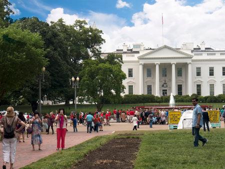 casa blanca: The White House in Washington DC in the USA