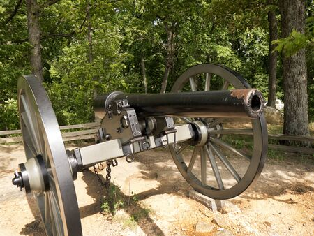 individuals: The Battlefield in Gettysburg Pennsylvania which is dotted to many memorials to the fallen and to commemorate the individuals involved Editorial