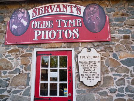 gettysburg battlefield: The Town of Gettysburg in Pennsylvania USA