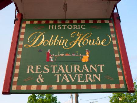 gettysburg: Sign in the Town of Gettysburg in Pennsylvania USA